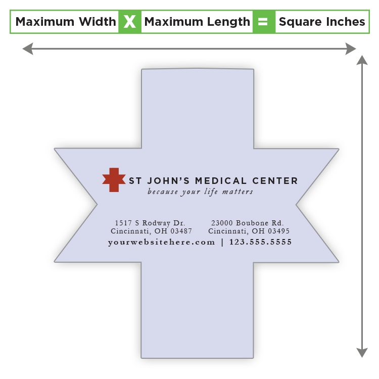 Custom Shape Magnet - 34.01 to 42 Square Inches - 30 Mil.