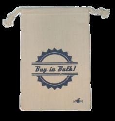 Weedy 100% Natural Cotton Drawstring Bag 6 x 9