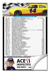 NASCAR Schedule Sticker / Decal - UV-Coated Vinyl - 4x6 Rectangle Shape
