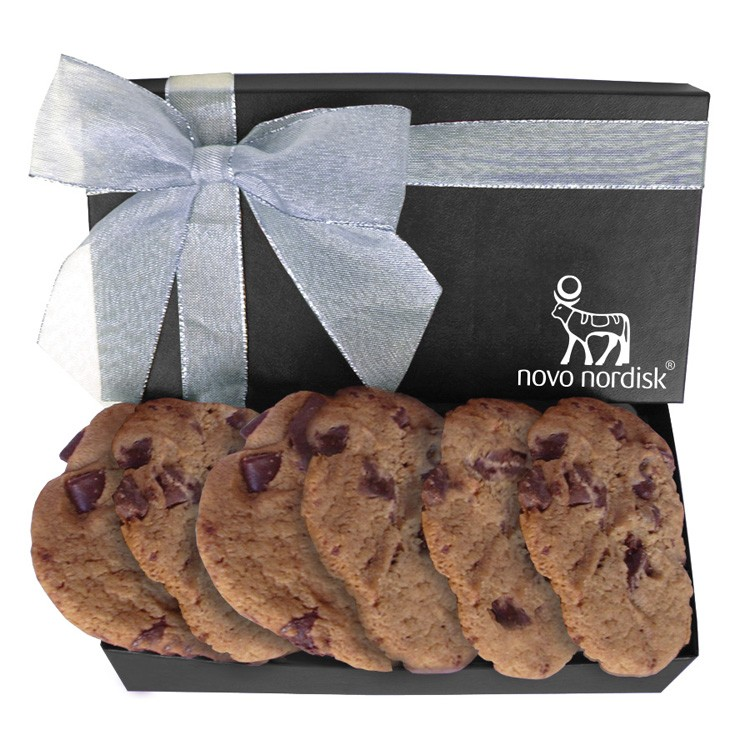 The Executive Large Chocolate Chip Cookie Box - Black
