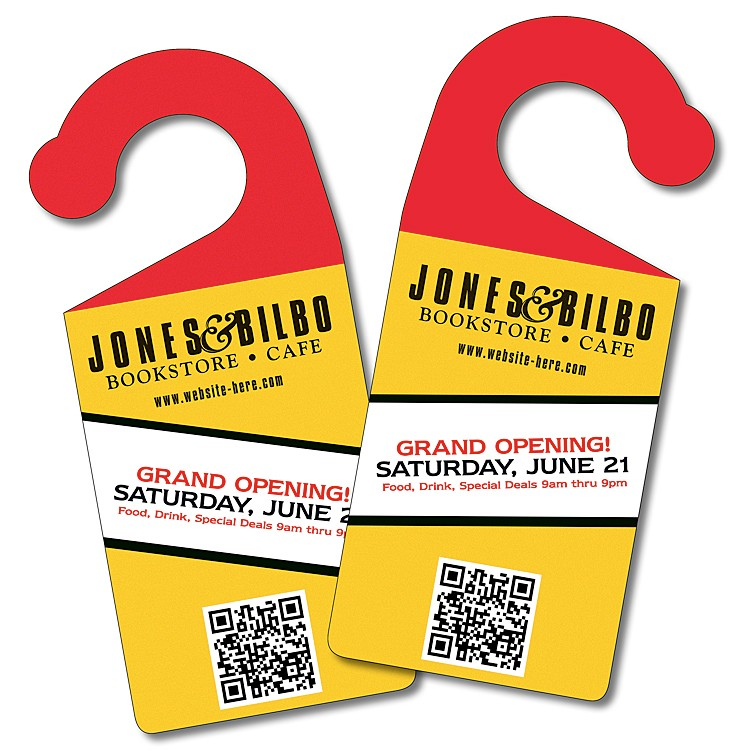 Door Hanger - 3.75x8.5 Extra-Thick Laminated with Round Handle - 24 pt.