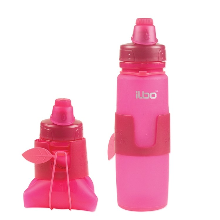 16 oz Silicone Main Squeeze collapsible sport water bottle