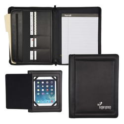 iPad Zipper Padfolio w/ Smart Magnetic Flap