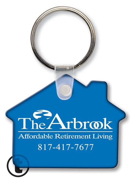 Key Tag - House - Spot Color - Budget friendly key chain / ring / holder and key accessories for auto, car, house or automotive dea