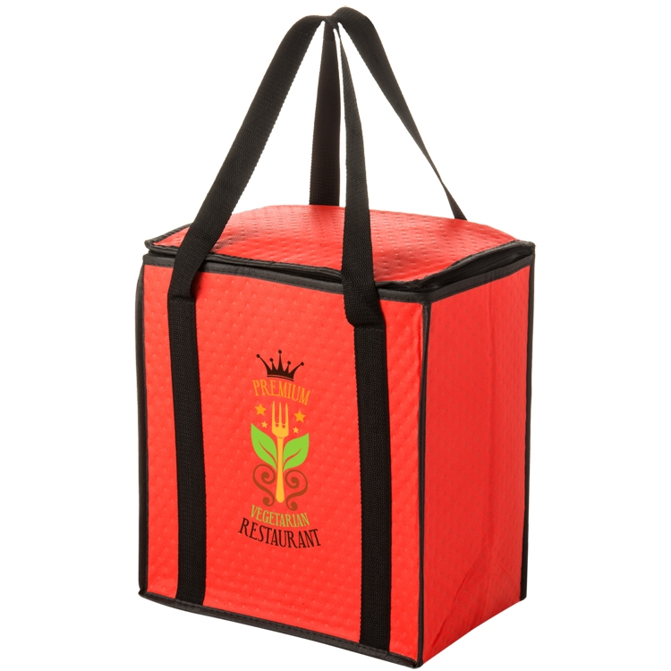 Non-woven Polypropylene Insulated Tote with Zipper Closure