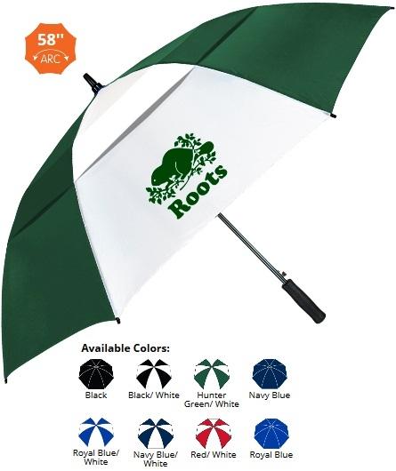 58 Inch Auto Open Fiberglass Umbrella SALE - HALF OFF ARTWORK SETUP Until May 31!