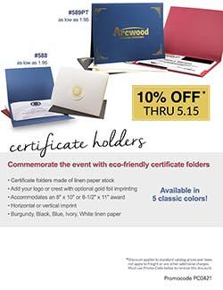 Certificate Folder Sale from Warwick Publishing