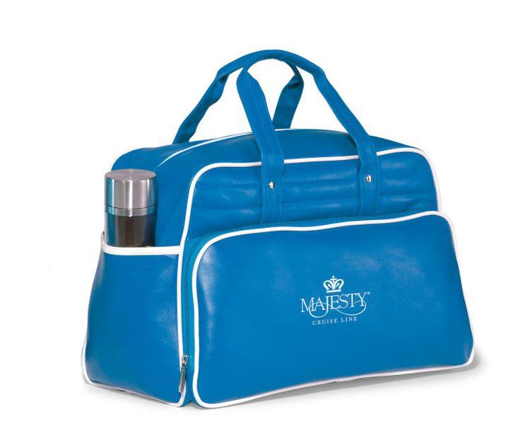 Vintage Weekender Bag - Pacific Blue/White