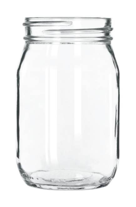 16 oz glass mason drinking jar mj0204 baltimore