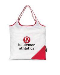 Latitudes Foldaway Shopper - White & Red