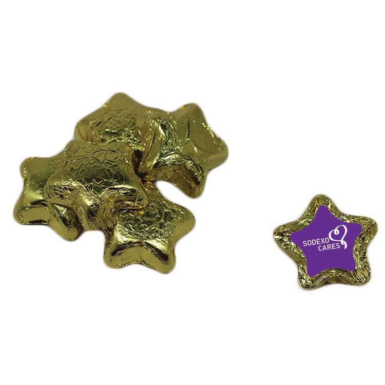 Individually Wrapped Candy Stars - Gold