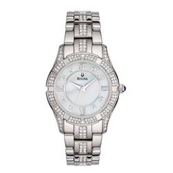 Bulova Women's Swarovski Crystal Bracelet Mother of Pearl Dial Watch