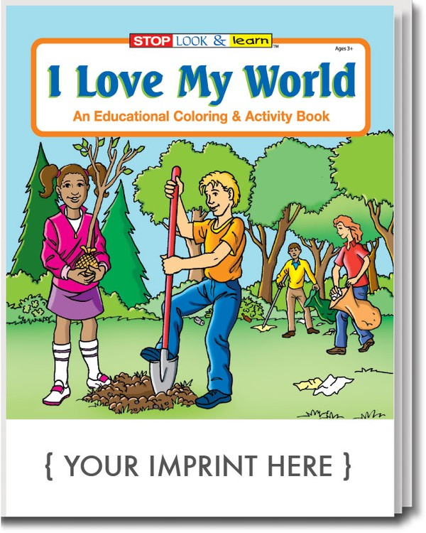 COLORING BOOK - I Love My World Coloring & Activity Book