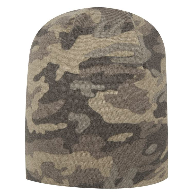 Camouflage Polyester Jersey Knit 9 1/2″ Lightweight Beanie