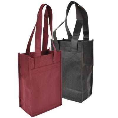 2 Bottle Wine Tote Bag (7 x 4 x 11 x 4)