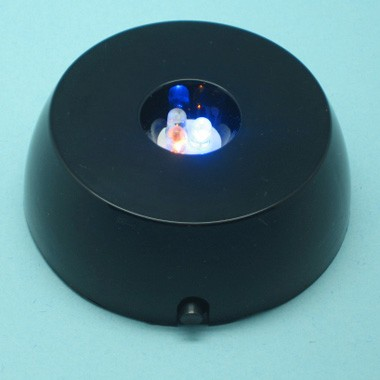 Color LED light reflector for crystals