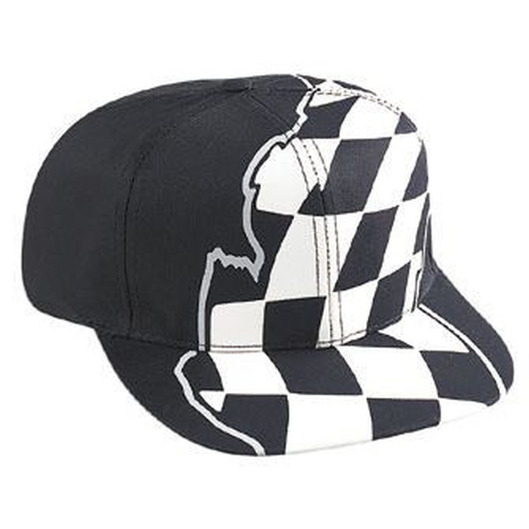 793a72e2 OTTO Racing Flag Pattern Cotton Twill Pro Style Baseball Cap