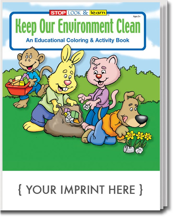 COLORING BOOK - Keep Our Environment Clean Coloring & Activity Book