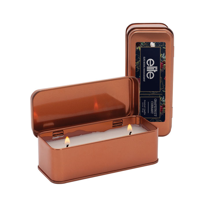 5 oz. Scented Copper Rectangular Candle