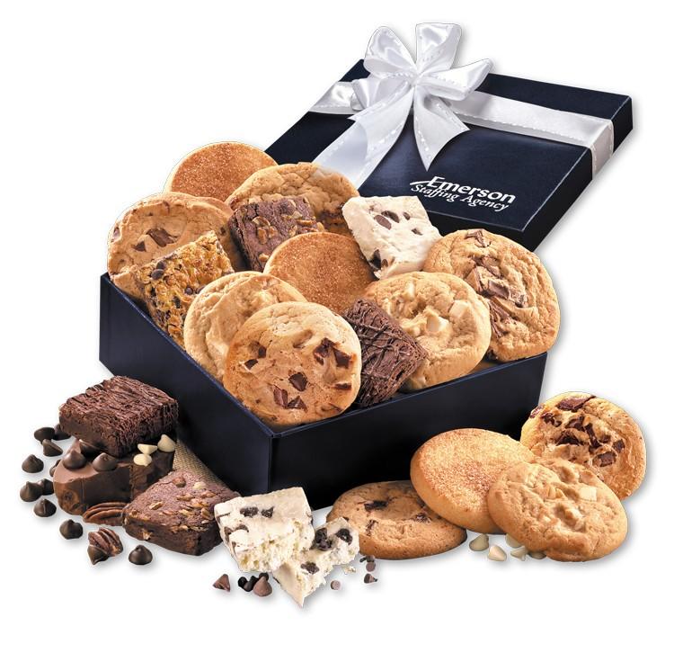 Gourmet Cookie & Brownie Assortment in Navy Gift Box
