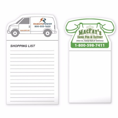 BICStock Shape Magnet with 50 Sheet Notepad