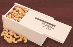 Extra Fancy Jumbo Cashews in Wooden Collector's Box - Gourmet Food Gift