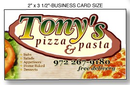 3 1/2 x 2 Business Card Magnet