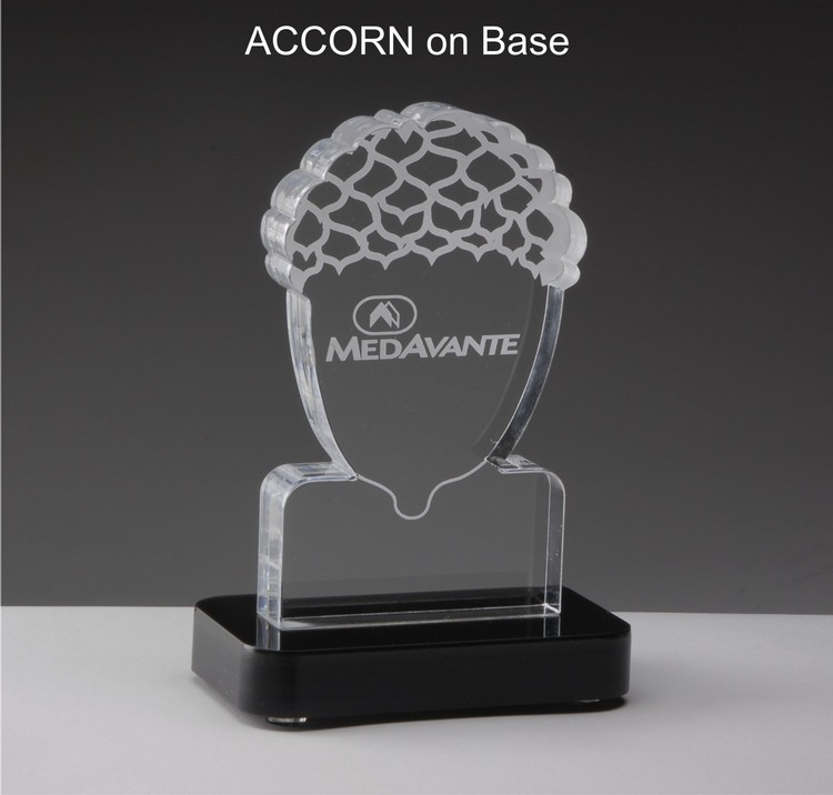 All in One! Any laser cut shape, approx. 24 square inches, laser engraving & black acrylic base incl
