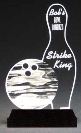 Best-In-Bowling Award-Clear Acrylic