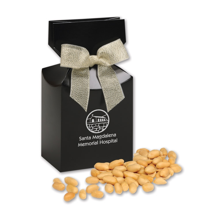 Black gift box with your logo & Choice Virginia Peanuts