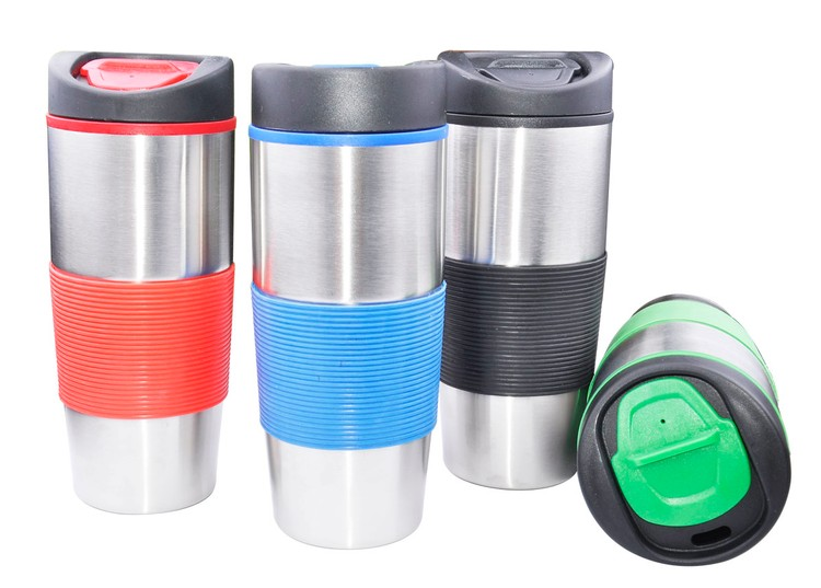 Stainless Steel Tumbler with Flip Top Lid - 16 oz
