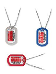 Dome Design Metal Dog Tags with 4 color imprint