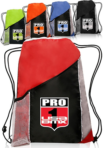 Triple-Color Sports Backpacks - 13 W x 17 H