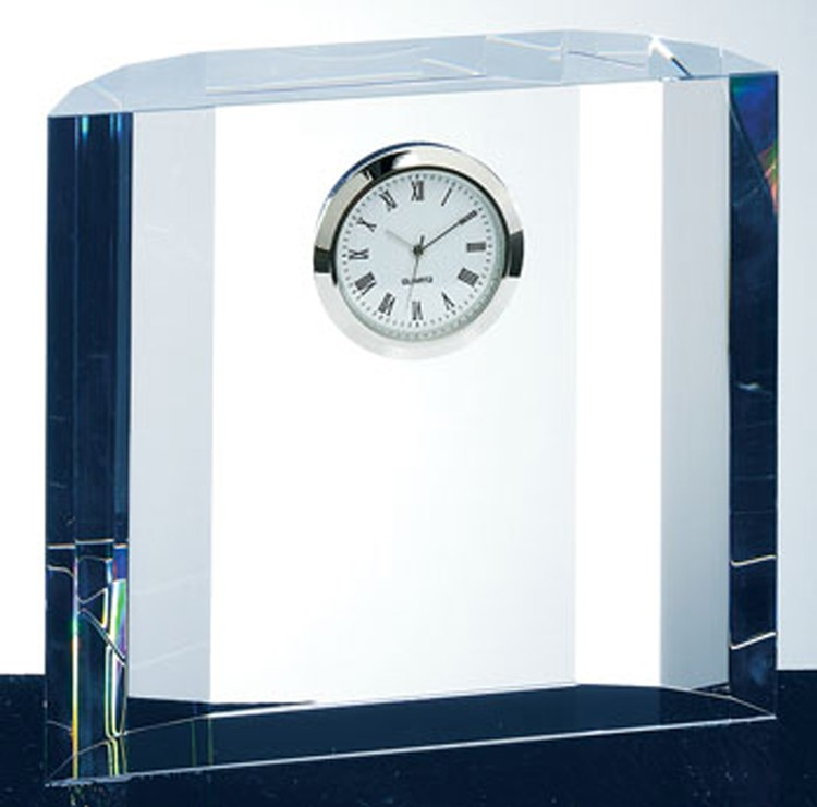 Crystal Winged Fantasy Clock-Optic Crystal.