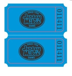 Double Tickets with Logo on 2 Front sections- 2000 roll