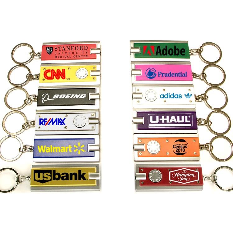 Rectangular Flashlight Key Chain