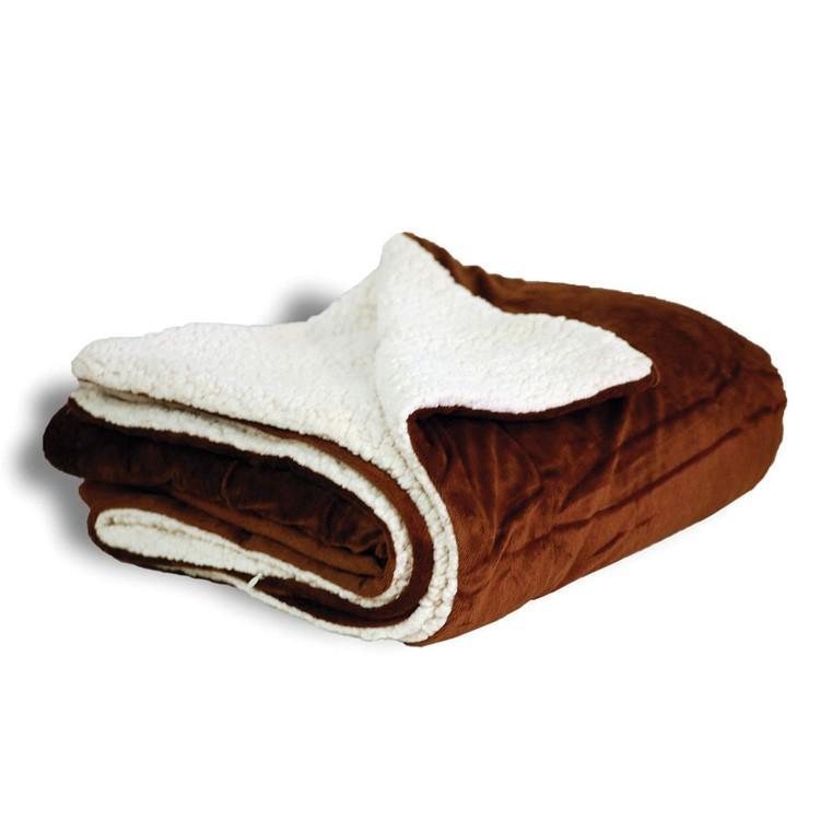 Oversized Sherpa Throw Blanket - Brown