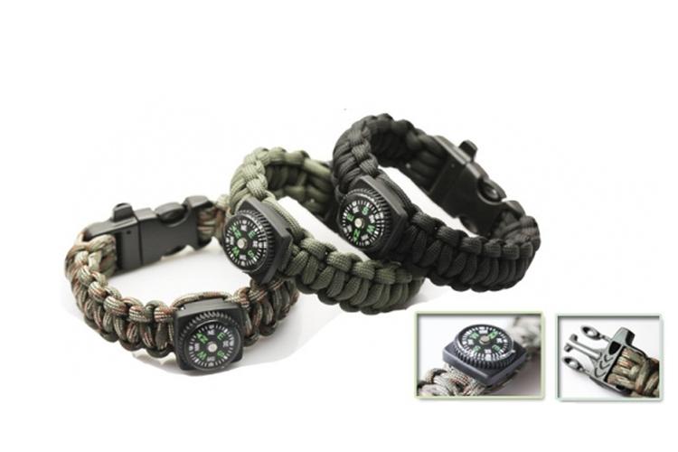 Survival Bracelet With Compass
