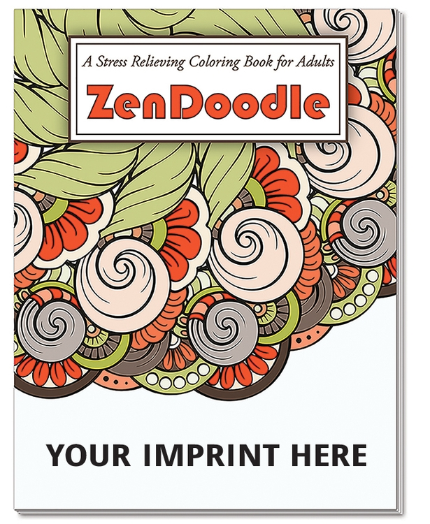 ADULT COLOURING BOOK - ZenDoodle Stress Relieving Colouring Book for ...