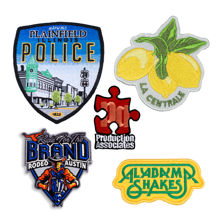 Embroidered Patches 5 50% Coverage