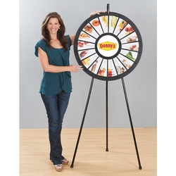 31 18-Slot Black Floor Stand Prize Wheel - Prize Wheel