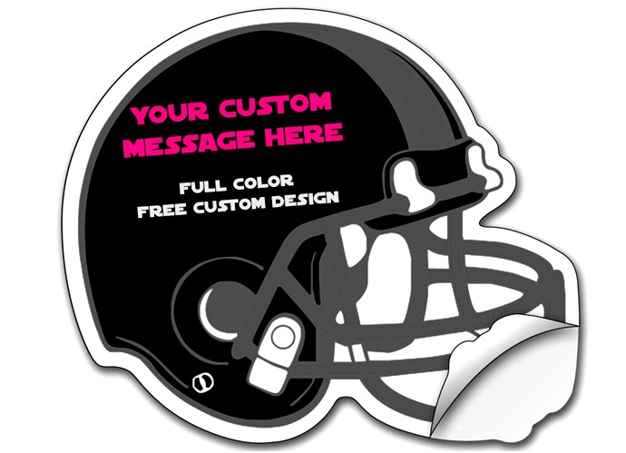 Sticker / Decal - 8.5x10.125 Inch Football Helmet Shape - UV Coated Removable Vinyl Misc