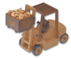 Cashews in Forklift