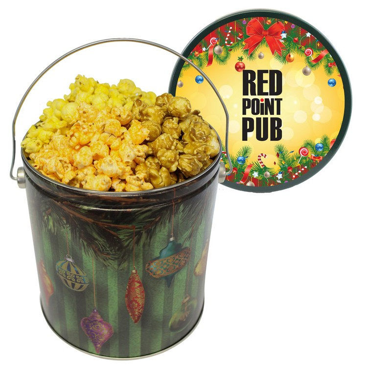 One Gallon Popcorn Tin - popcorn tin