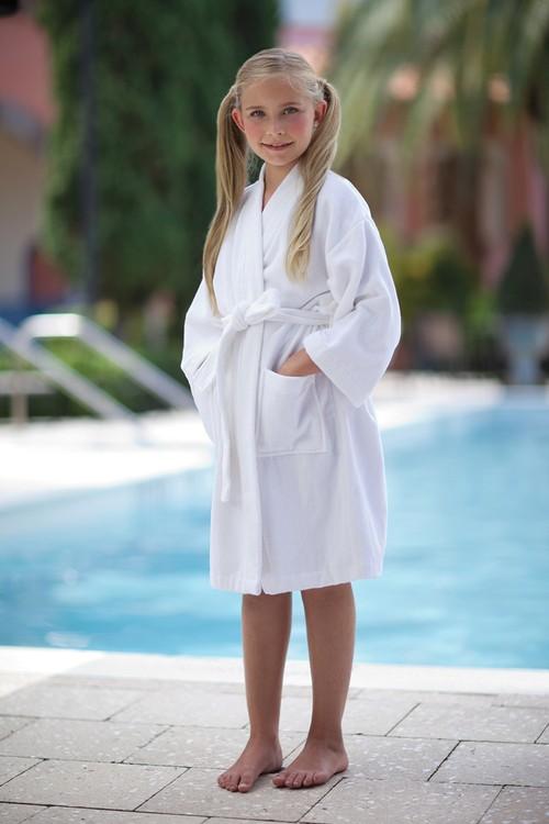 Kids Kimono Velour Bath Robe