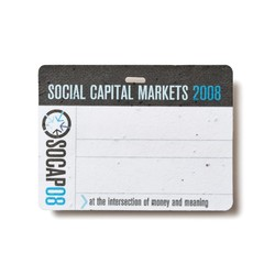 Seed Paper Name Badge (PNT)