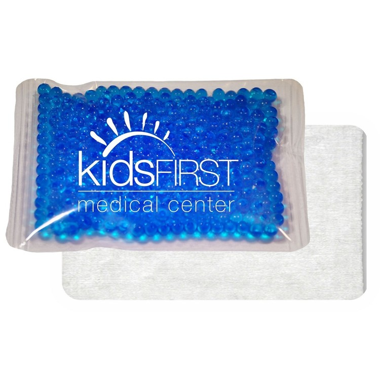 4.5 x 6 Blue, Cloth-Backed, Gel Beads Cold/Hot Therapy Pack
