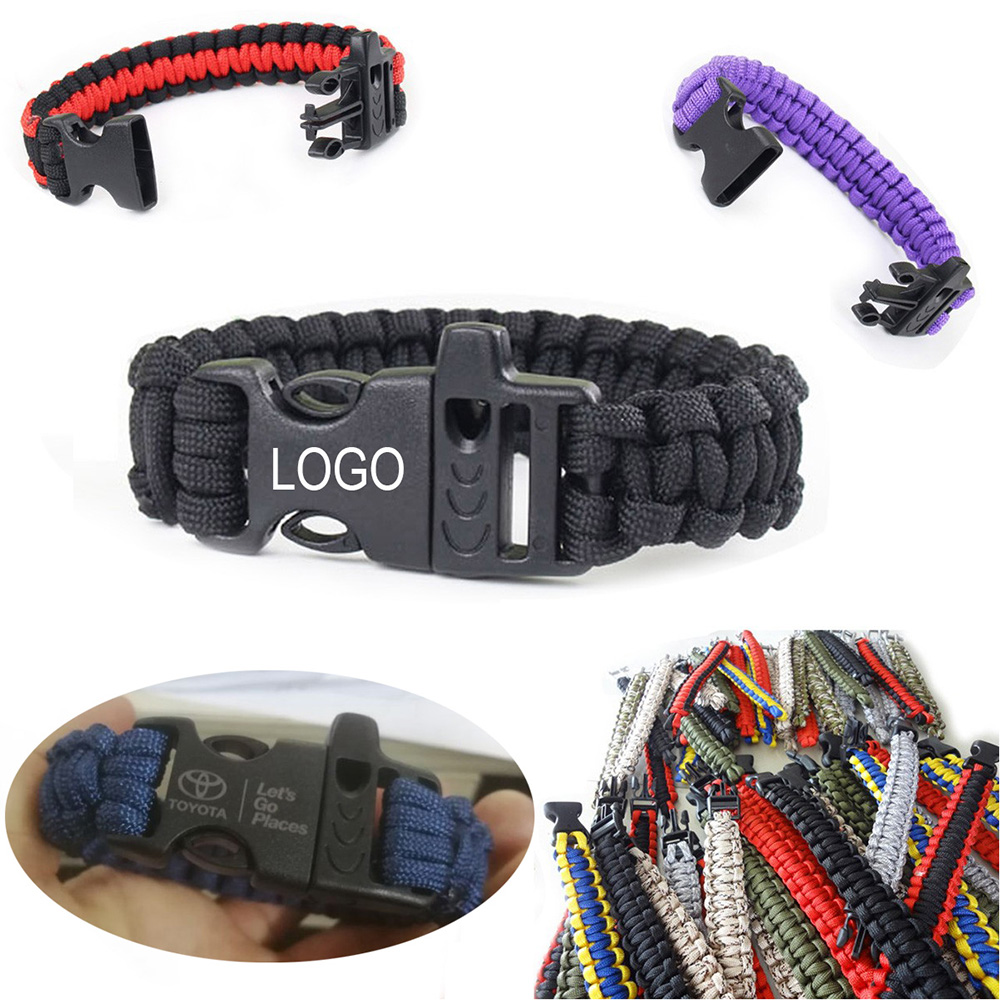 Superior Paracord Survival Bracelet with Whistle