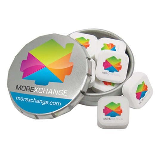 Push Top Tin with Printed Sugar Free Mints