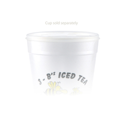 32 oz Foam Cup Straw Slot Lid - Frosted
